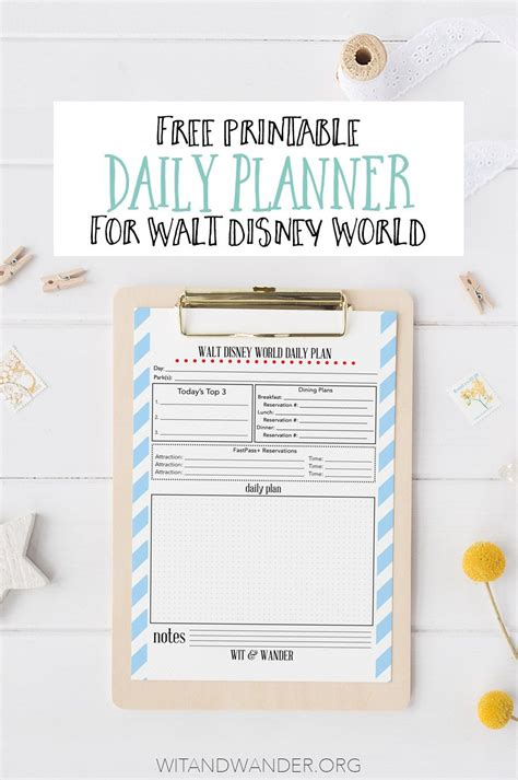 printable disney planning guide free printable walt disney world daily planner disney