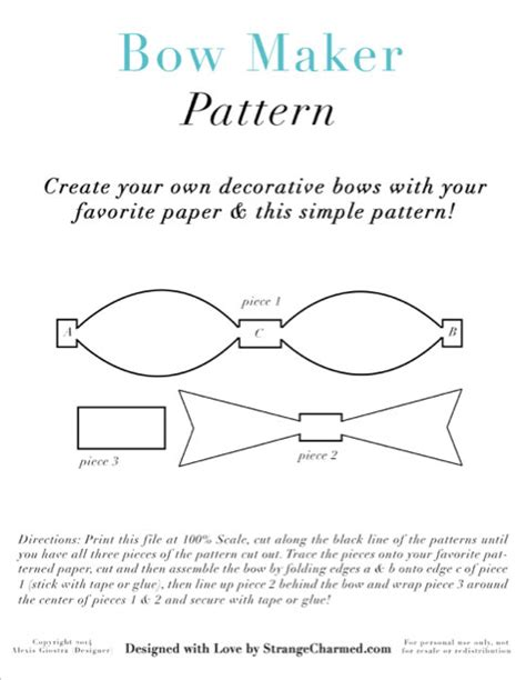 bow maker template strange charmed page 6 of 80 for your