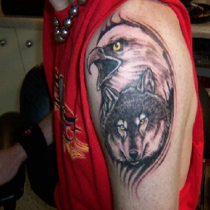 40 Cool Native American Tattoos Pictures Hative Eagle And Wolf Tattoos