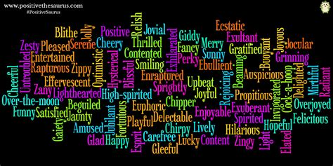 Light Hearted Synonym by Positive Thesaurus Positive Words For You Positive