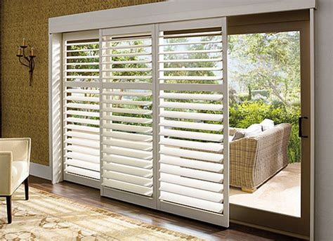 Shutter Blinds For Patio Doors Window Treatments For Sliding Doors Centsational