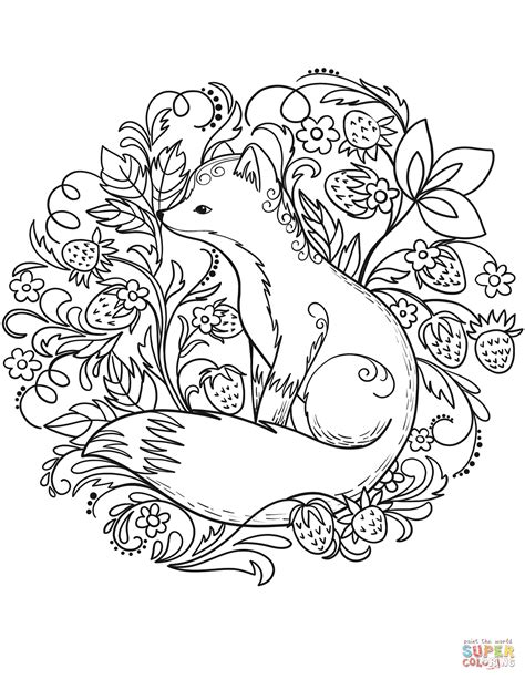 Fox Coloring Pages by Fox Coloring Pages Coloring Pages