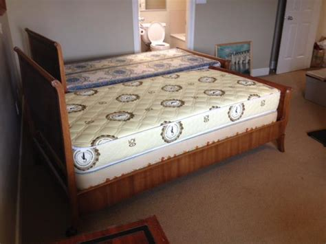 used twin beds two twin size antique sleigh beds saanich victoria