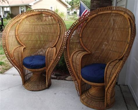 Peacock Chair For Sale for sale peacock back wicker chairs for the home
