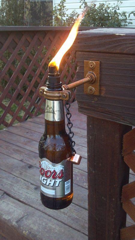 unique decorative bottles make unique decorative tiki torches out of glass wine beer