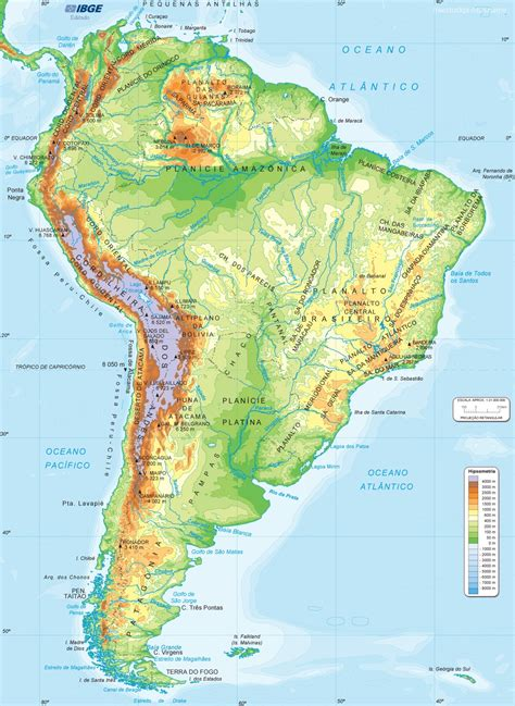 america map physical map best photos of physical map of south america