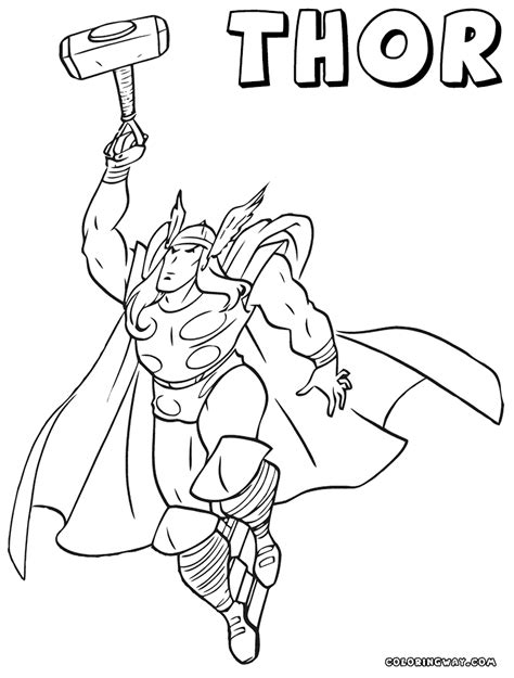 Thor Coloring Pages Coloring Pages To Download And Print Thor Coloring Pages