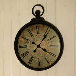 Large Wall Clocks Antique Style Pocket Large Wall Clock By Jones And
