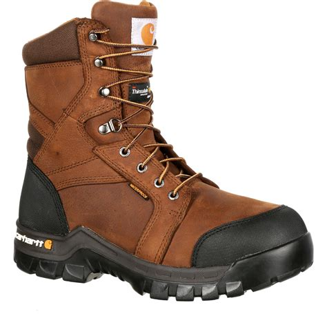 insulated work boots for carhartt rugged flex ct waterproof insulated work boot