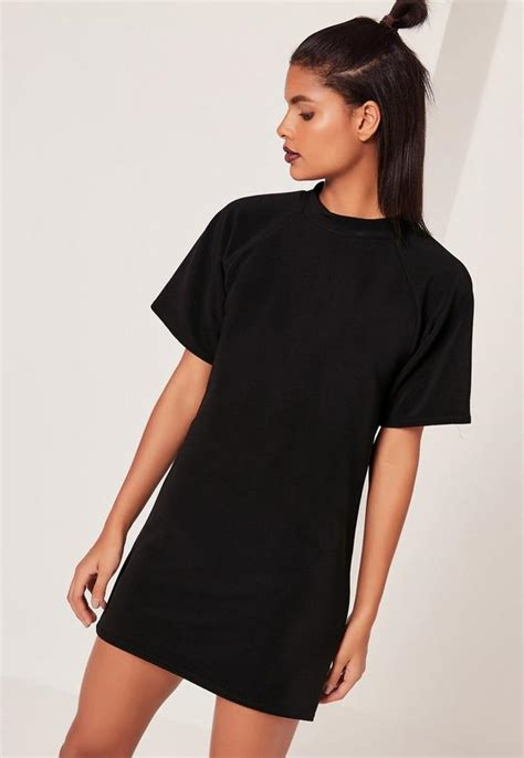 Oversized T Shirt Dress Dlcd 10 sleeve oversized t shirt dress black missguided