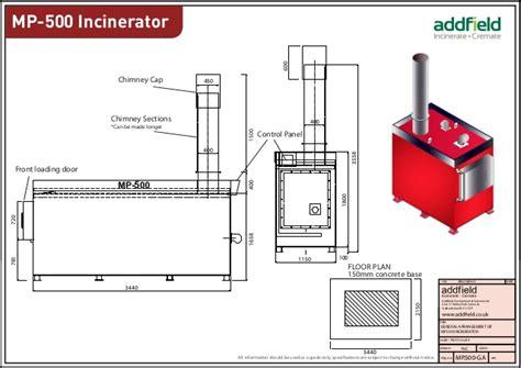 design criteria for incineration hospital waste incinerator mp 500 datasheet