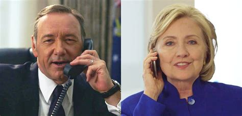 house of cards clintons video kevin spacey s house of cards character frank underwood prank calls hillary