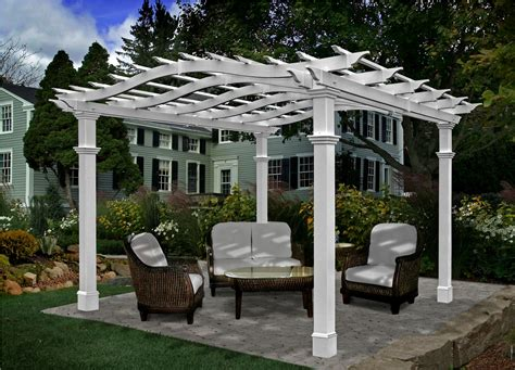 Pergola Designs With Columns Furnitureplans Photos Of Pergolas