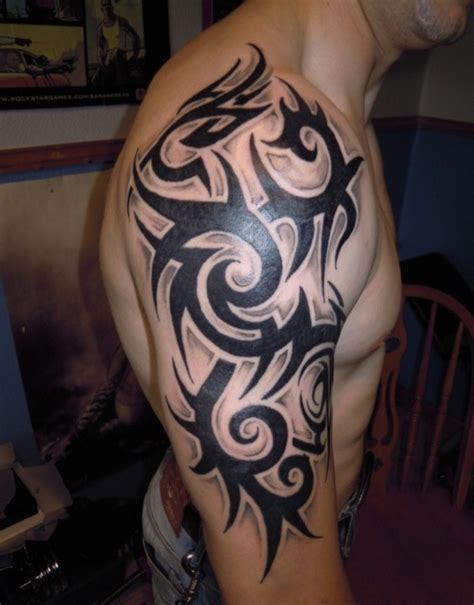 cool men tattoos shoulder tattoos for tattoofanblog