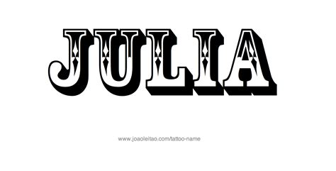 julia name tattoo designs