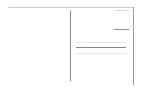 free blank postcard template post card template sles and templates