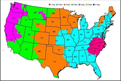 fedex shipping map fedex shipping times map my