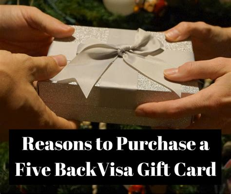 Purchasing A Visa Gift Card - reasons to purchase a five back visa gift card 50 giveaway 5back17 healthy happy