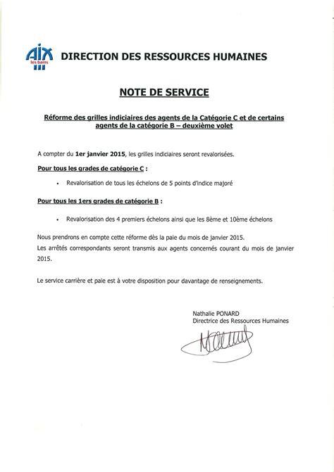 modele note de service collectivite document