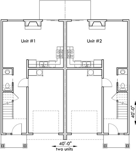 40 x 40 duplex house plans duplex house plan d 532 duplex plans with garage