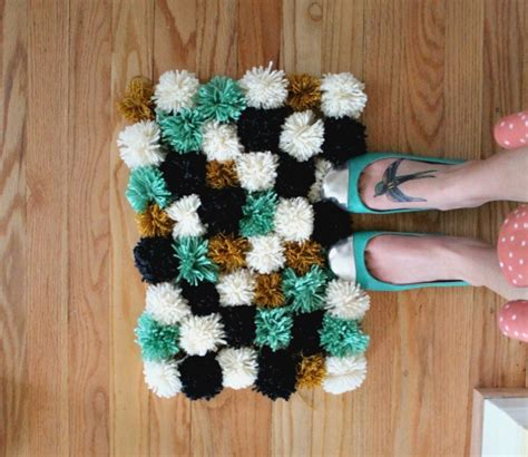 how to make a rug diy pom pom rug