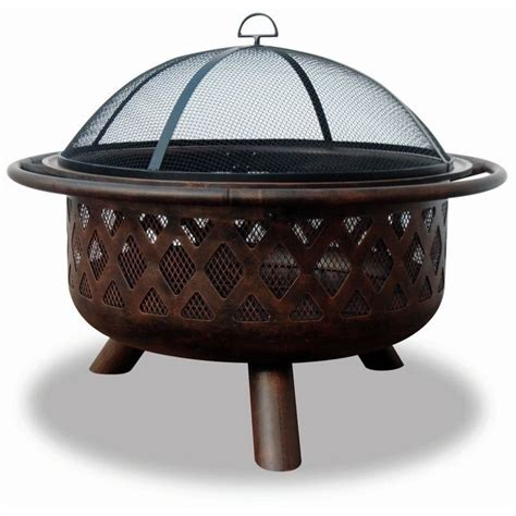 Firepit Wood Wood Burning Bronze Outdoor Pit Wad792sp
