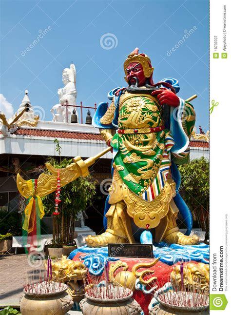 the chinese god of war guan yu stock image image 18739707