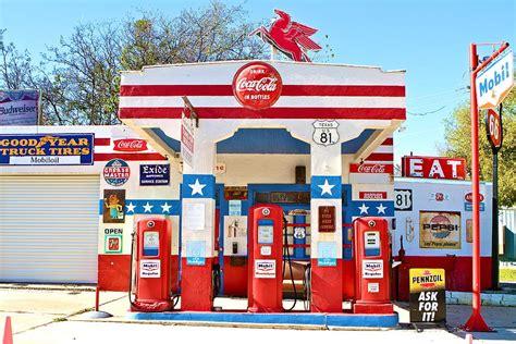 Garage Plans Online Vintage Mobil Gas Station Photograph By John Babis