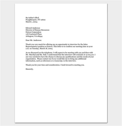 Confirmation Letter For Opportunity Appointment Letter 6 Sles For Word Pdf Format