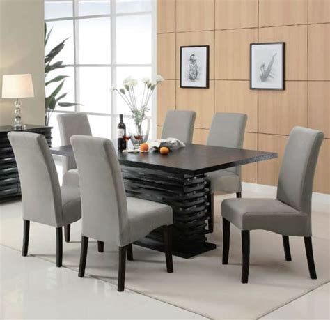 Black 7 Dining Room Set by 7 Dining Set With Black Rectangular Table