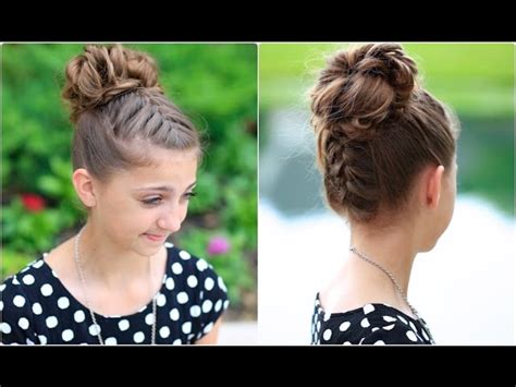 youtube hairstyles messy buns textured braids half up half down hairstyles makeup videos