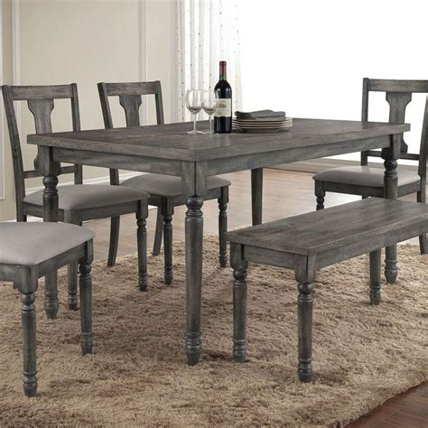 grey wood dining room table and chairs table weathered gray dining set grey and chairs