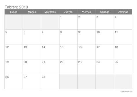 calendario febrero 2017 para imprimir icalendario net calendario febrero 2018 para imprimir icalendario net