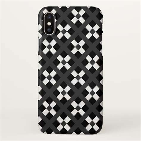 white pattern iphone case black gray and white geometric pattern iphone x case