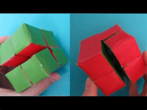 How To Make A Puzzle Out Of Paper - diy magic folding cube