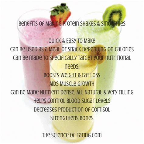 protein benefits benefits of smoothies