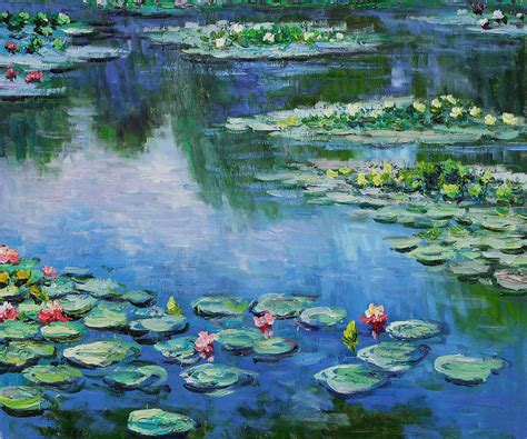 Franz Vase Water Lilies By Claude Monet For Sale Jacky Gallery Oil