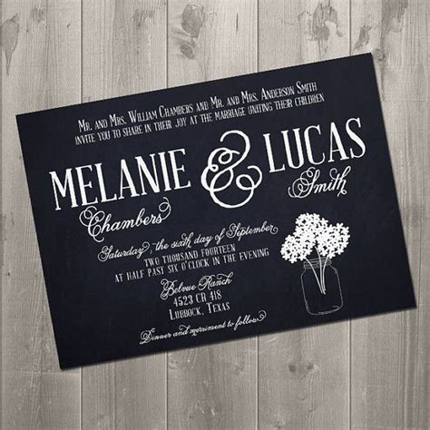diy chalkboard wedding invitations discover and save creative ideas
