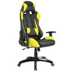 fauteuil de bureau baquet racing noir et jaune waytex fr