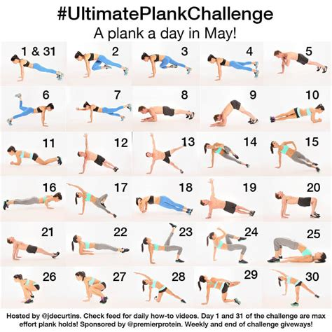 different types of challenges ultimate plank challenge week two recap