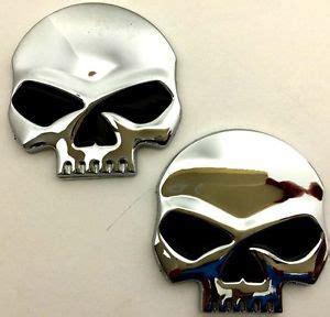 Emblem Harley New Skull x2 new custom chrome blk skull punisher emblem harley davidson custom chopper ebay