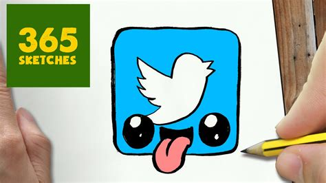 imagenes redes sociales twitter como dibujar logo twitter kawaii paso a paso dibujos