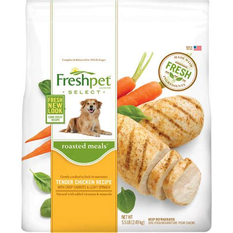 freshpet select food freshpet select roasted meals chicken with carrots and spinach