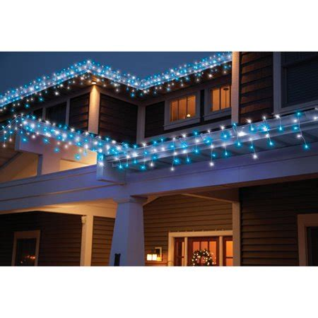 christmas lights at walmart time 70 count led string lights cool white blue walmart