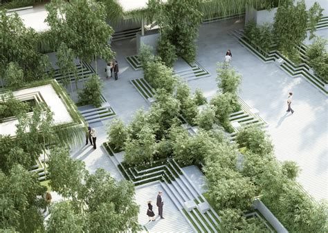 penda designs beautiful indian garden with water mazes and