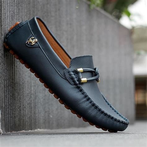 mens loafers for sale 2015 sale black genuine leather loafers mens fashion boat