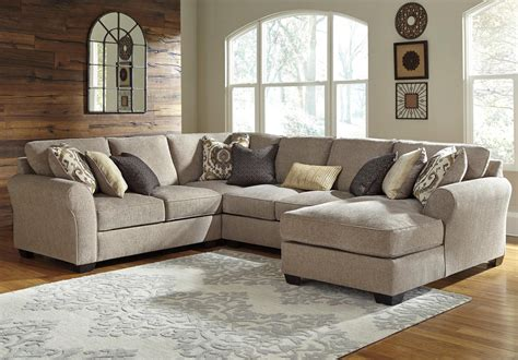 pantomime right chaise sectional benchcraft pantomine 4 sectional with right chaise