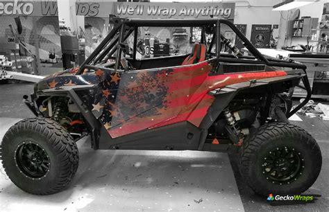 rzr  custom american flag graphics geckowraps las vegas vehicle wraps graphics