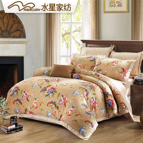 100 Cotton Bed Sets Mercury Home Textile 100 Cotton Sanding Printed Bedding Sets With 4pcs Bed Sheet King Size