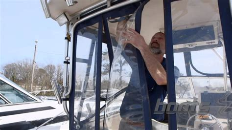 boat canopy window vinyl how to clean and care for boat isinglass and canvas youtube